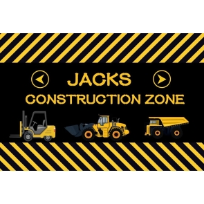 Jacks Construction Zone Theme Boy Birthday Baby Shower Party Backdrop Photography Background Decoration Prop