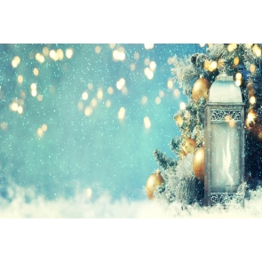 Snow Flying Retro Candlelight Christmas Party Backdrop Photo Booth Photography Background