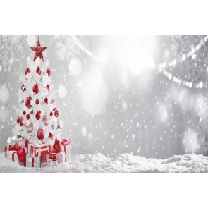 Snow Flying White Christmas Tree Backdrop Party Photo Booth Photography Background