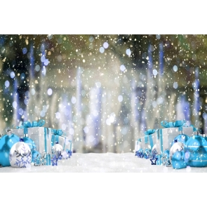 Snowflakes Gift Box Christmas Party Backdrop Photo Booth Photography Background