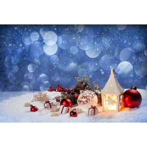Winter Snow On Candlelight Light Christmas Party Backdrop Photo Booth Stage Photography Background