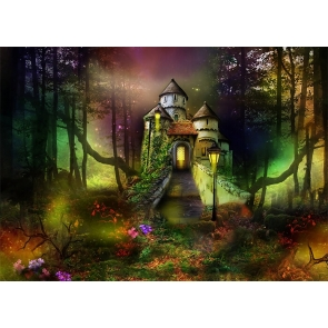 Fairy Tale World Wonderland Forest Castle Background Party Photography Backdrop