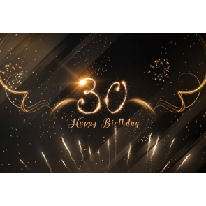 Fireworks Theme Happy 30th Birthday Backdrop Party Photography Background