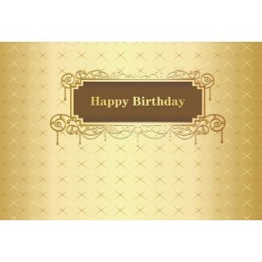 Gold Background Happy Birthday Party Photography Backdrop