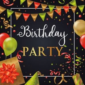 Happy Birthday Banner Backdrop Party Photography Background Decorations Props