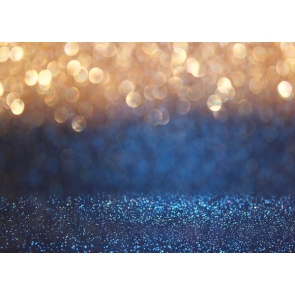 Golden And Dark Blue Glitter Powder Bright Spot Backdrop Studio Photo Props Backgrounds