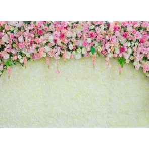Vinyl 3D Bridal Shower Flower Wall Backdrop Outdoor Wedding Studio Photography Background Decoration Prop