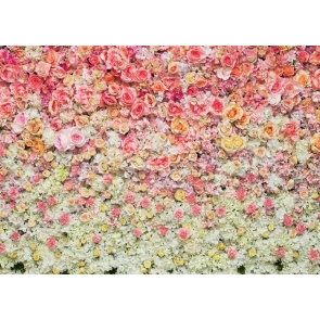 Baby Shower Floral Backdrop Vinyl 3D Flower Photography Background Decoration Prop
