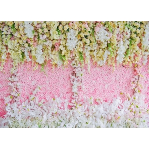 Outdoor Wedding Vinyl 3D Flower Wall Backdrop Bridal Shower Floral Photography Background Decoration Prop