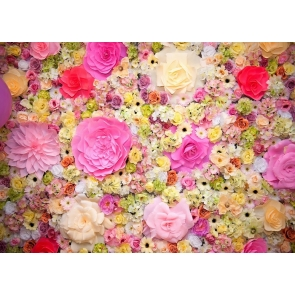 Vinyl 3D Flower Wall Backdrop Studio Portrait Photography Background Decoration Prop