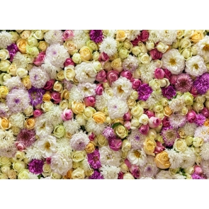 Vinyl 3D Flower Wallpaper Backdrop Studio Portrait  Floral Photography Background Decoration Prop