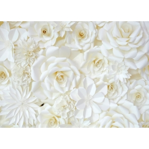 White Flower Wall Valentines Background Wedding Photography Backdrops