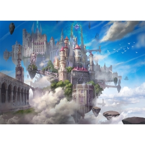 In The Air Fairy Castle Background Party Photography Backdrop