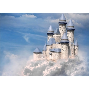 In The Cloud Castle Background Party Photography Backdrop