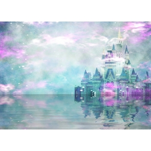 In The Lake Surface Wonderland Castle Background Party Photography Backdrop