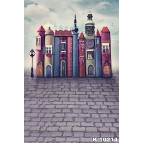 Book Castle in Fairy Tales Children's Photography Backdrops