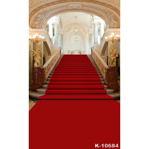 Grand Hall Red Carpet Stairs Wedding Best Large Photography Backdrops