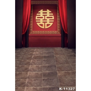 Ancient Chinese Wedding Ceremony Hall Inexpensive Photography Backdrops