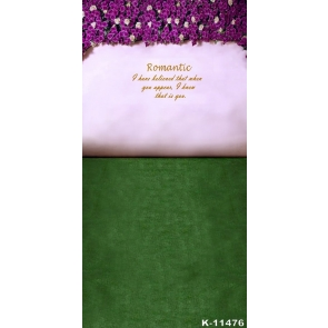 Romantic Green Grassland Flowers Letters Wedding Photographic Backdrops