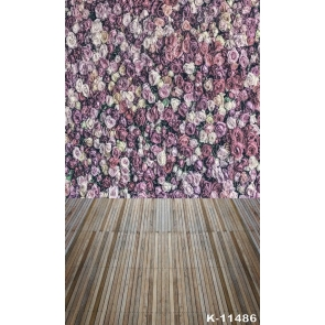 Roses Flowers Wall Real Wood Floor Wedding Photographs Backdrops