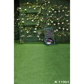 Attractive Fashion Grass Wall Backdrop Wedding Party Background