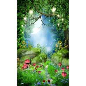 Fairy Tale Forest Moon Night Stone Path Elf Kid Girls Portrait Backdrop Studio Photography Background Prop