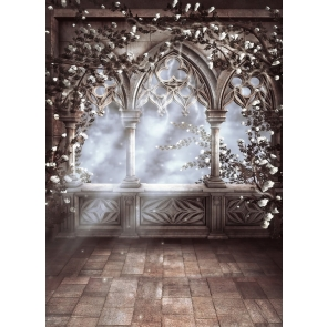 Retro Middle Ages Building Dream Romance Wedding BackdropStudio Photography Background Prop