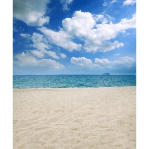 Blue Sky White Cloud Beach Backdrop Studio Photography Background Prop