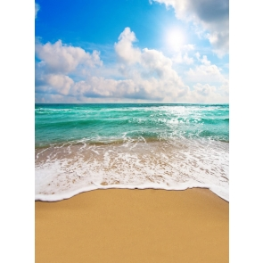 Summer Blue Sky White Cloud Beach Backdrop Studio Photography Background