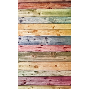 Retro Multicolor Wood Backdrop Studio Newborn Baby Showe Photography Background