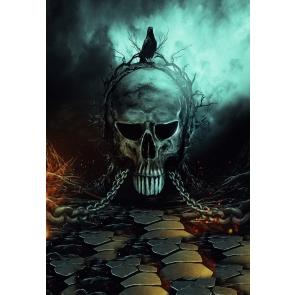 Scare Venom Skull Halloween Party Backdrop Studio Photography Background