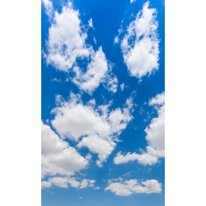 Blue Sky White Cloud Backdrop For Party Studio Photography Background Prop