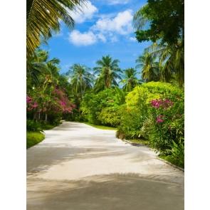 Hawaii Palm Tree Wedding Backdrop Studio Photography Background Prop