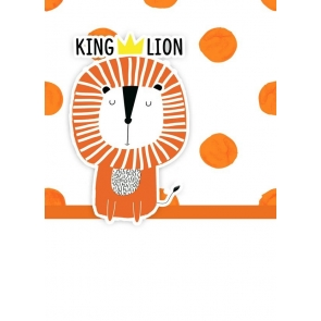 Cartoon King Lion Wall Background Kid Baby Shower Happy Birthday Backdrop Prop