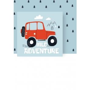 Cartoon Wild Adventure Kid Baby Shower Happy Birthday Backdrop Prop