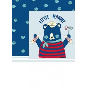 Little Marine Kid Baby Boy Shower Happy Birthday Backdrop Studio Portrait Photography Background Prop