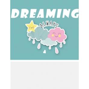 Dreaming Always Baby Shower Backdrop Studio Portrait Photography Background Prop