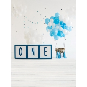 Balloon Theme Baby 1st Happy Birthday Backdrop Decoration Props Photography Background