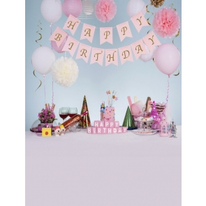 Kid Baby Happy Birthday Party Backdrop With Balloons Custom Background Prop