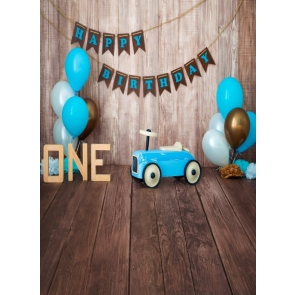 Baby Boy First Happy 1st Birthday Wood Backdrop Decoration Prop Photography Background