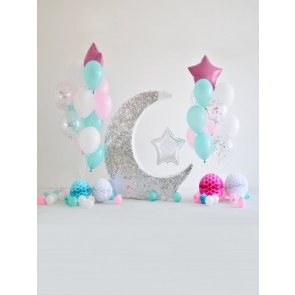 Kid Baby Shower Happy Birthday Party Backdrop With Balloon Photography Background Prop