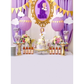 Baby First 1 Year Old Happy 1st Birthday Party Backdrop Decoration Prop