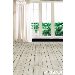 Wood Floor Curtain Glass Window Background Indoor Backdrops