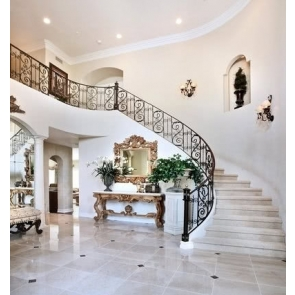White Wall Rotary Steps Stairs Background Luxury Living Room Backdrops