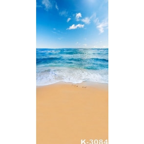 Summer Vacation Blue Sky Blue Sea Yellow Sandy Beach Picture Backdrop