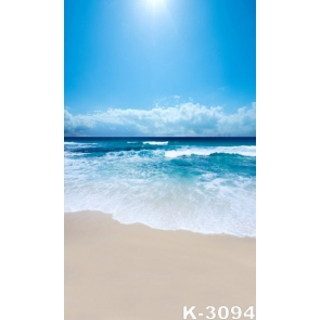 Summer Sunny Day Blue Sky White Clouds Seaside Beach Photo Drop Background