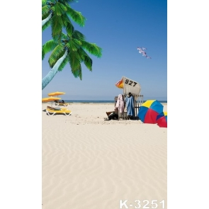 Summer Holiday Coconut Tree Beach Affordable Photography Backdrops
