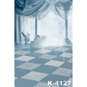 Dreamy Palace Swans Romantic Wedding Photo Backdrops Studio Background