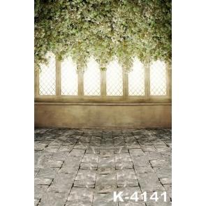 Dreamy Flowers down to Slate Floor Wedding Vinyl Photography Backdrops