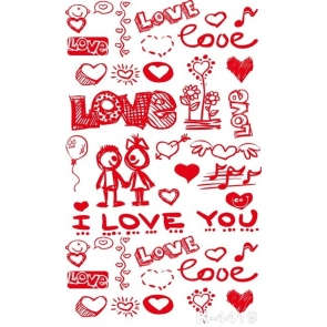 Lovely Couples Love Graphic Wedding Photo Wall Backdrop